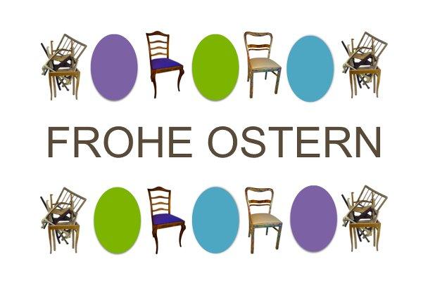 Frohe Ostern mit Vintage-Stühlen