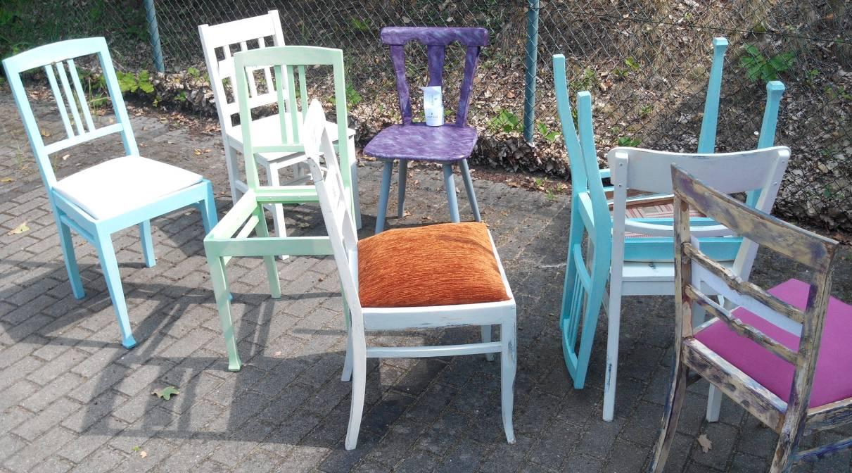 Fotoshooting Vintage-Stühle