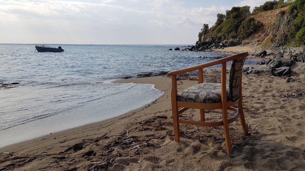 Stuhl auf Reisen